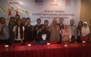 Siswa dari Maluku Utara (Malut) yang mengikuti program BUMN Hadir Untuk negeri di Kalimantan Utara