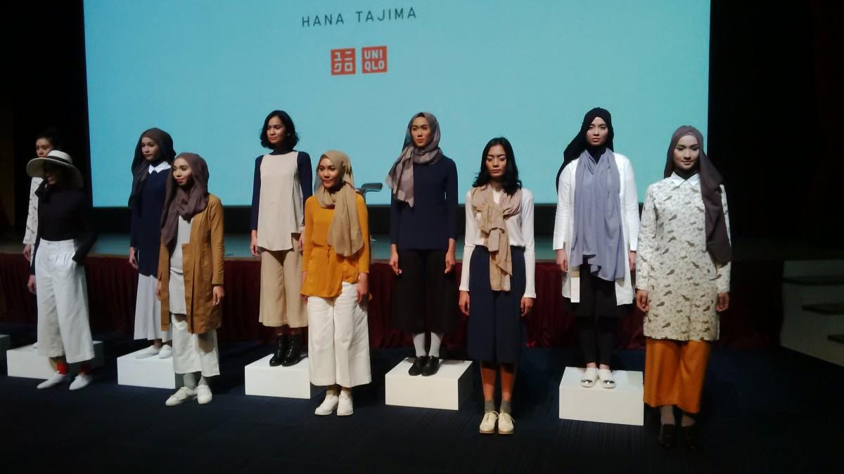 Uniqlo dan Hana Tajima hadirkan koleksi kedua di musim panas, di Jakarta, Kamis (21/1).