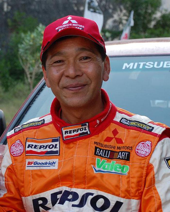 Hiroshi Matsuoka, mantan jawara reli Paris Dakar. Ist