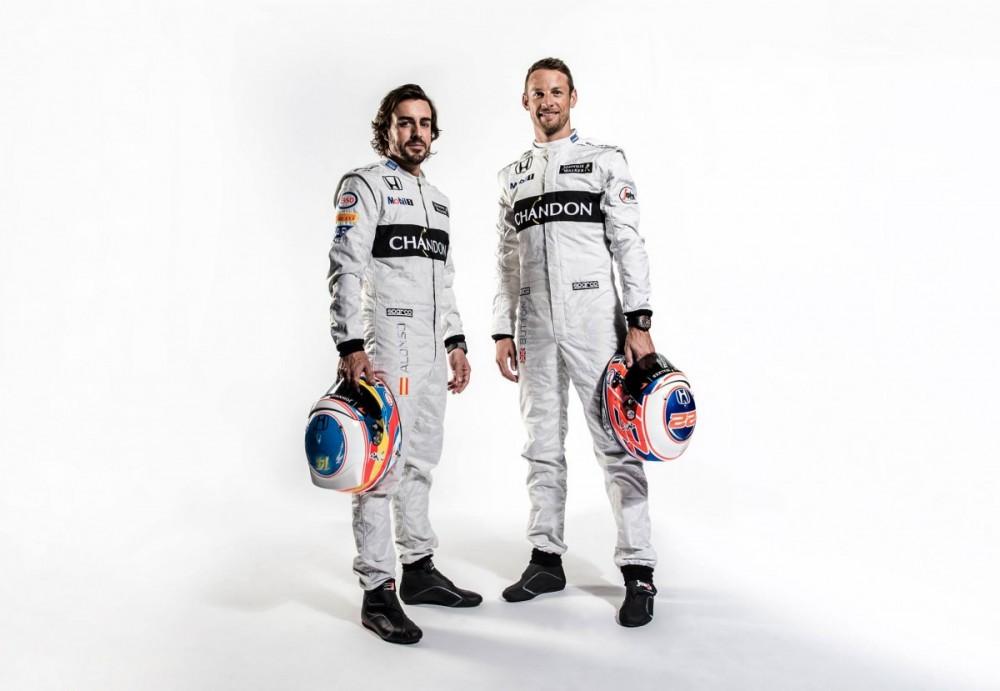 Honda mempertahankan pembalapnya, yakni Fernando Alonso dan Jenson Button sebagai pembalap utama untuk musim 2016 ini.  Ist