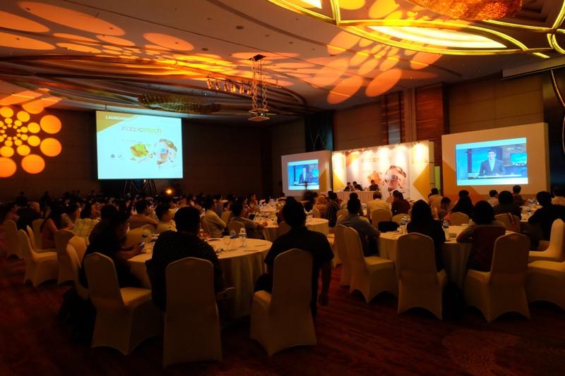 Peluncuran pameran Indocomtech 2016 di Jakarta.