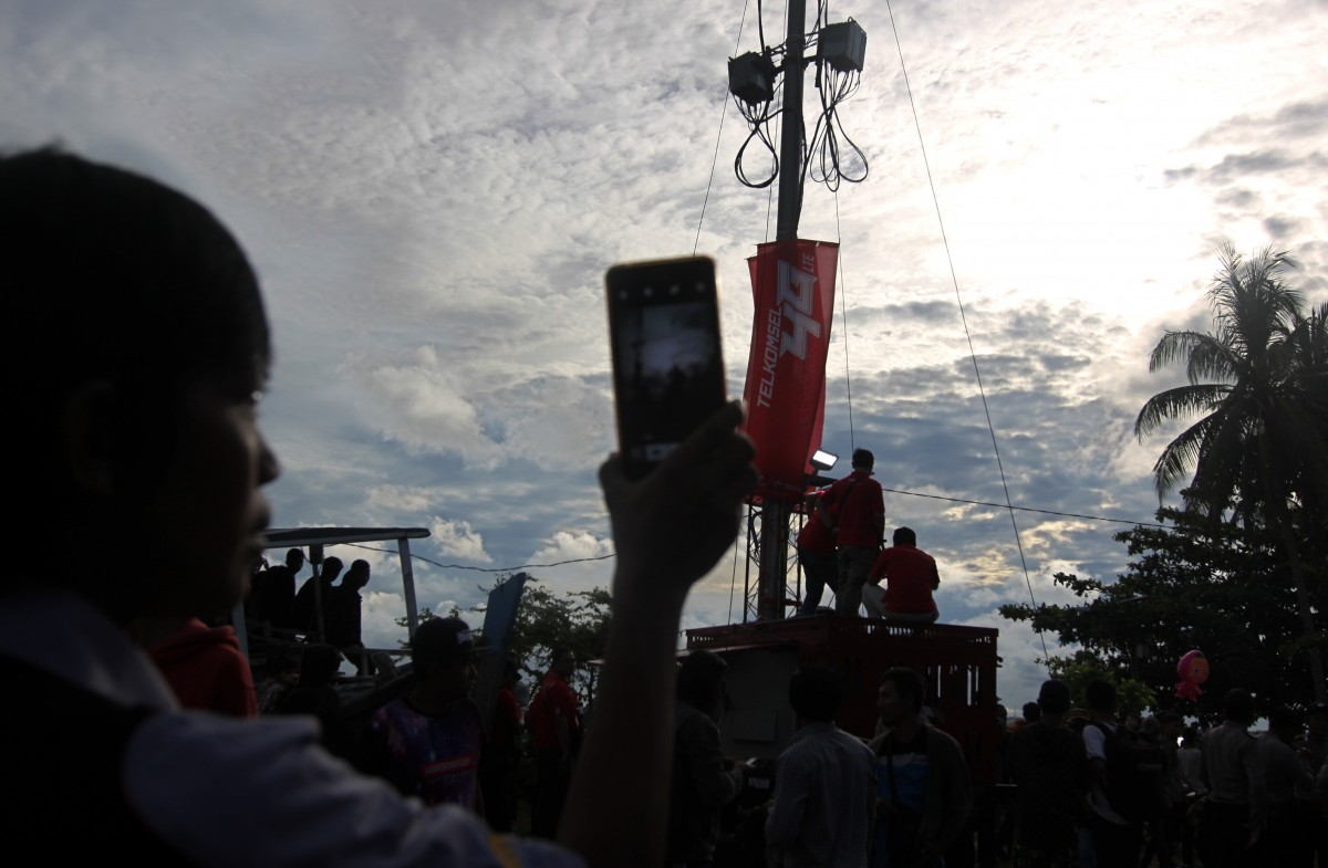 Telkomsel GMT Belitung: Telkomsel sukses menjaga kualitas jaringan broadband di berbagai lokasi yang menjadi pusat keramaian pengunjung untuk menyaksikan GMT