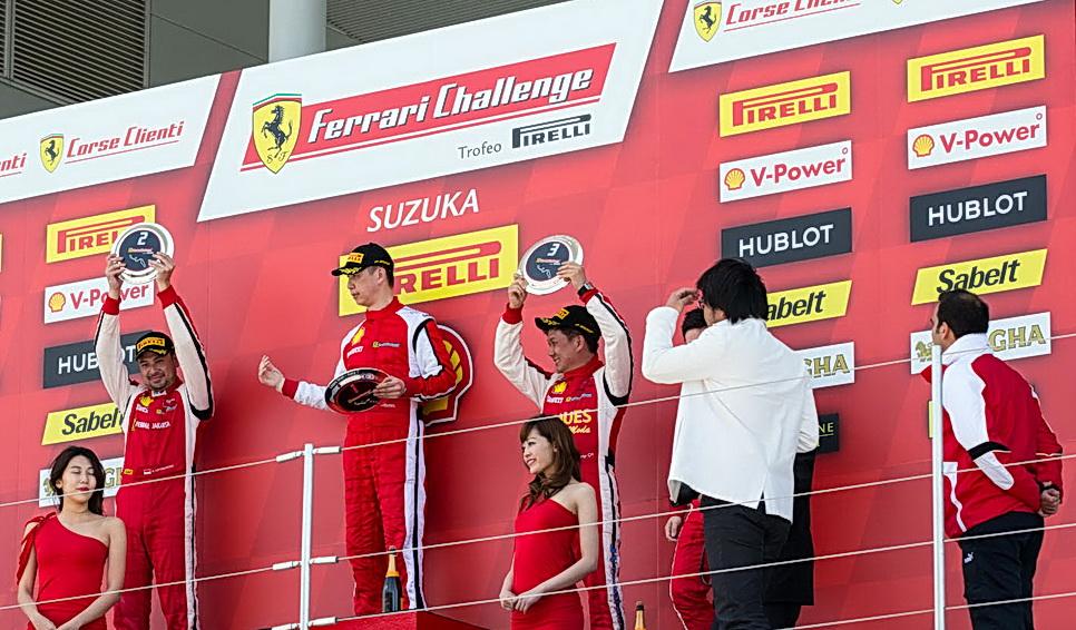Inilah mereka yang naik podium di ajang Ferrari Challenge Asia Pacific 2016. Ist