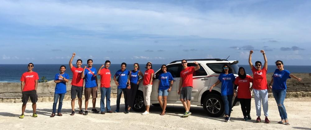 Para pemenang - dalam sudut pengambilan lain tampak senang dengan kesempatan langka berpetualang dengan Brand Ambassador New Rush TRD Sportivo Ultimo.  Ist