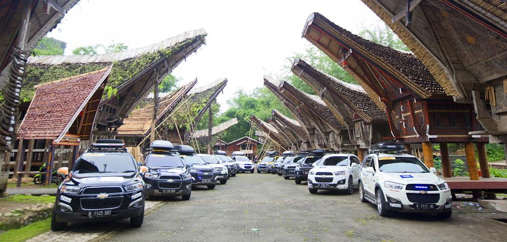 Captiva Chevy Club  mendukung sektor pariwisata Indonesia melalui kegiatan Tour D'Clebes 2015. Ist