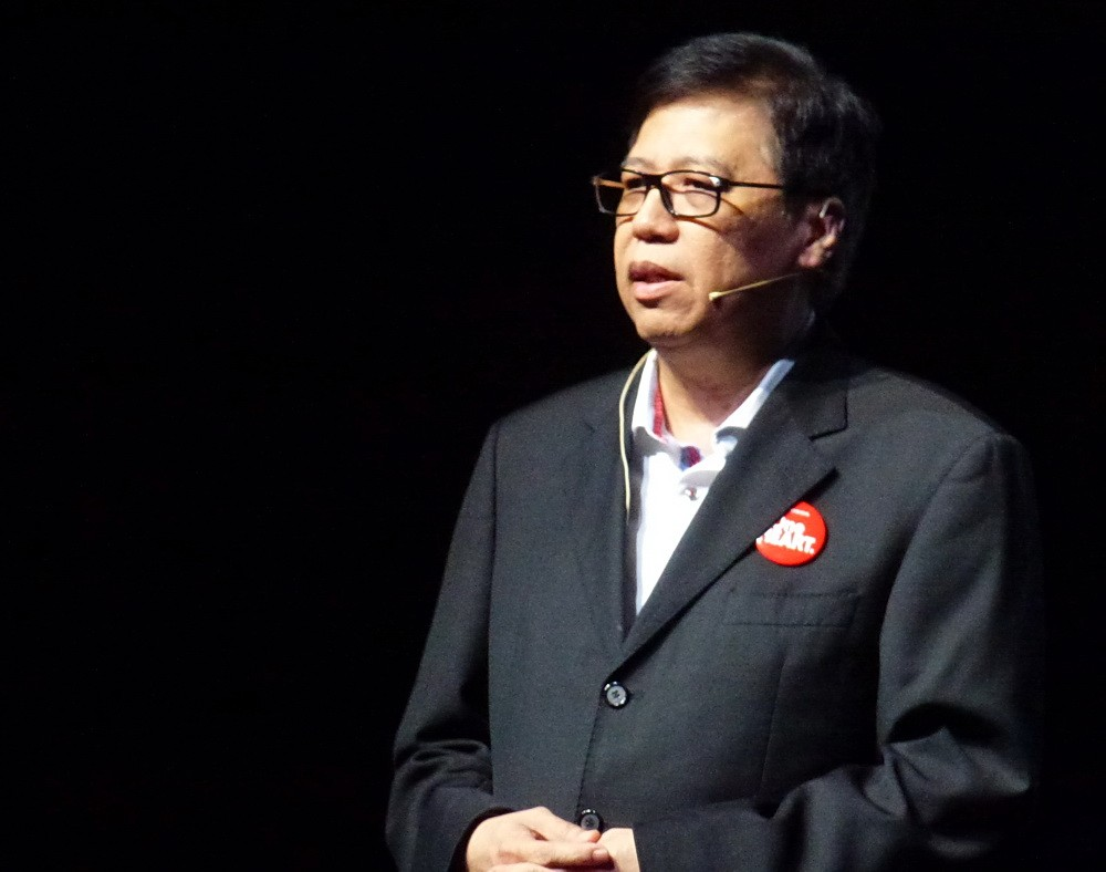 Vice President Director PT Astra Honda Motor Johanes Loman memaparkan optimisme atas model terbaru Honda di segmen motor sport itu.  (NextID/tot)