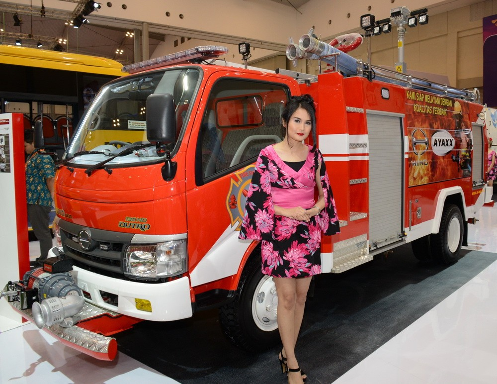 Model spesial dari Hino yang dibuat untuk memdamkan kebakaran. Ini model Hino Dutro 130 HD. Ist