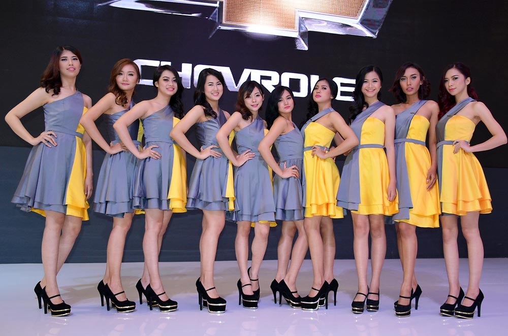 Para SPG dari Chevrolet. (NextID)