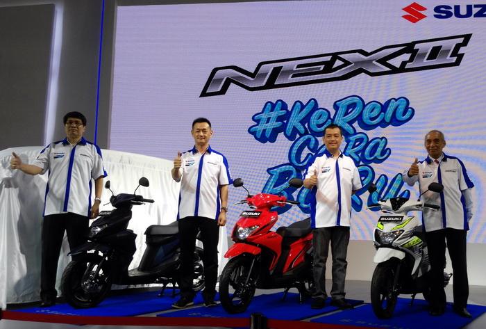 Suzuki meperkenalkan Nex II, generasi kedua yang telah disempurnakan.  Ist