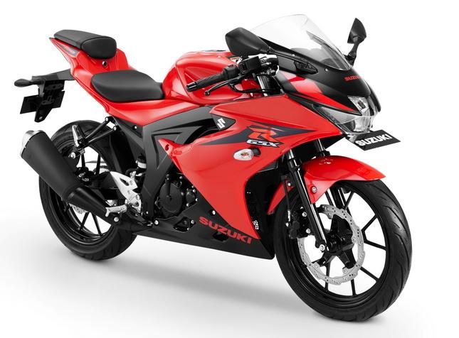 """Warna-warna Suzuki GSX-R150 kini lebih mantap, salah satunya """"Stronger Red/Solid Black"""" ini.  Ist"""