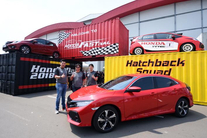 "Salah satu sudut menarik di Honda Fastival 2018 adalah ""Hatchback Squad"" berupa kumpulan hatchback Honda yang piawai di segmennya.  Ist"