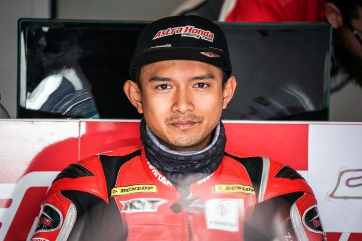 Dimas Ekky yang siap berlaga pada Grand Prix (GP) Moto2 di Catalunya, Spanyol, Minggu (17/6).  Ist