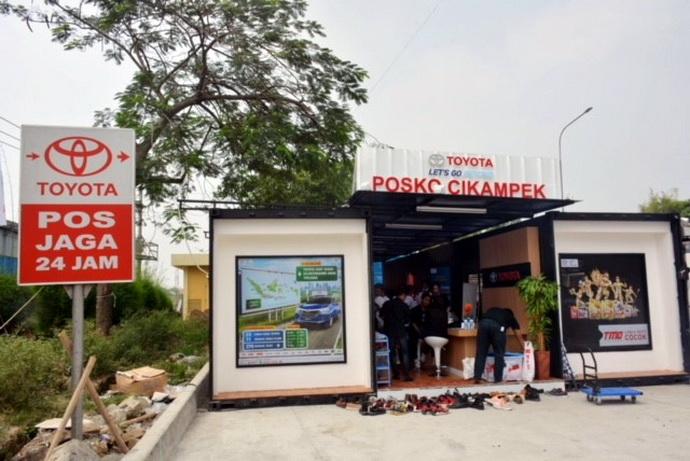 Inilah pos jaga Toyota yang siap 24 jam, berlokasi di di Rest Area Tol Jakarta - Cikampek KM. 57, Karawang.  Ist