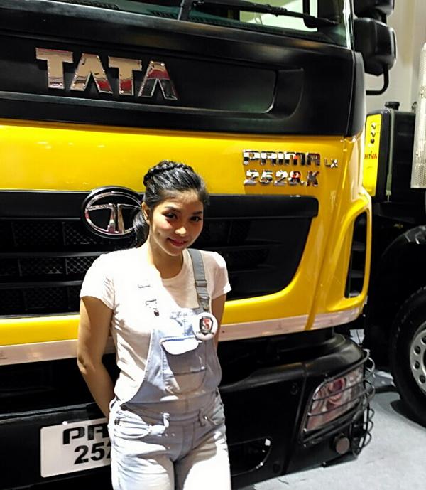 Salah satu daya tarik di booth Tata Motors adalah kehadiran ini.  Ist