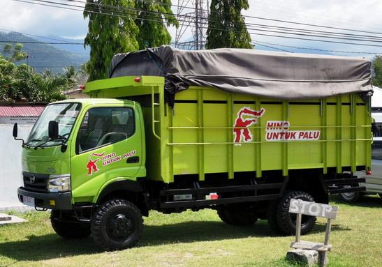 Inilah model truk Hino yang didonasikan untuk Palu.  Ist