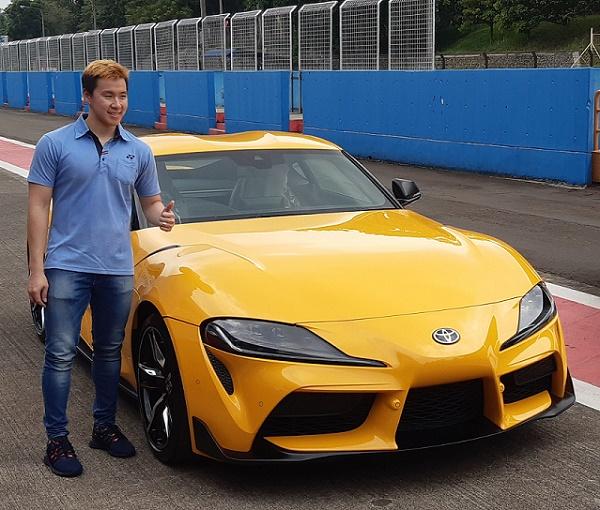 Markus Gideon dengan Toyota GR Supra.  Ist