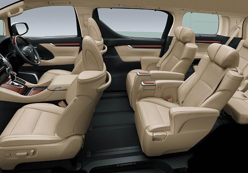Seatbelt yang terpasang di masing-masing  kursi Alphard dan Vellfire produksi Agustus -September 2019 perlu diwaspadai.  Ist