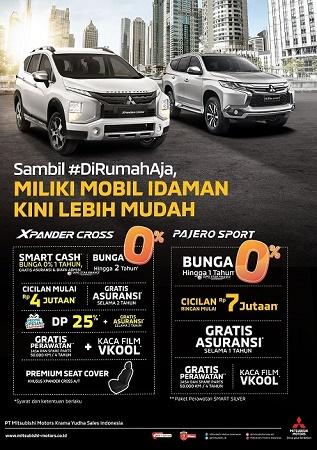 Poster promosi Mitsubishi Motors sepanjang Juni 2020.  Ist