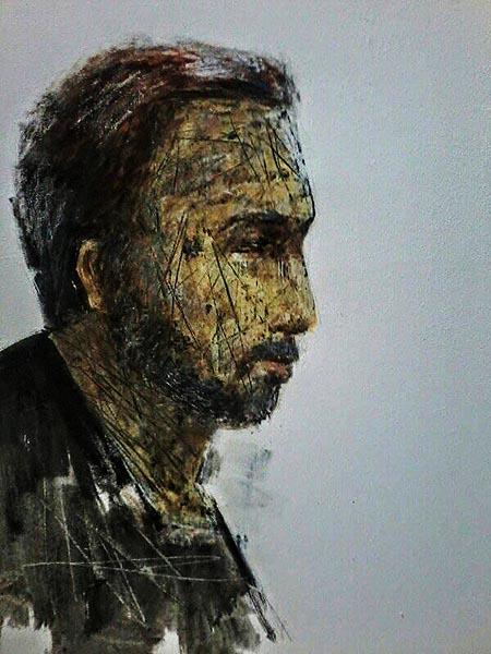 Salah satu lukisan Loka seri Proletar. Ist