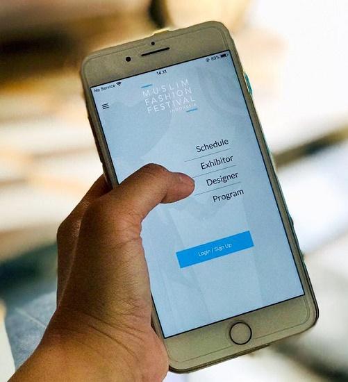 Penggunaan teknologi informasi melalui Mobile App untuk event MUFFEST 2020. Ist