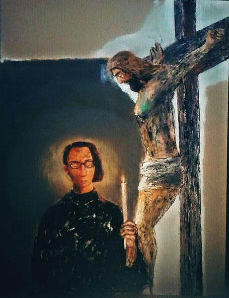 Seri lukisan Yesus Kristux akan dibuat kurang lebih 50 lukisan oleh Loka. Ist